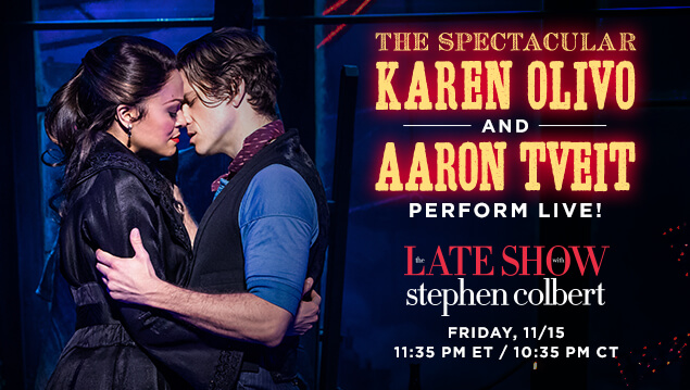 Karen and Aaron perform live on The Late Shot with Stephen Colbert. Friday, 11/15.
